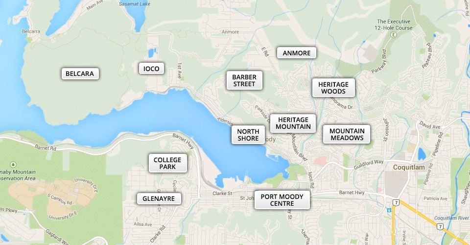 Port Moody Map Gord Allan Real Estate Newport Village   Port Moody Map Search